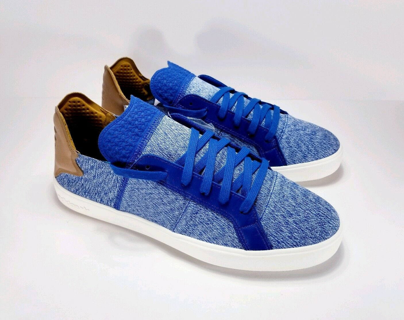 RARE Adidas x Pharrell Williams Men Vulc Lace-Up AQ5779 Size 12 bluee LIMITED