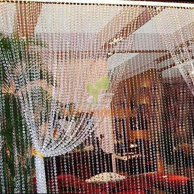 99FT Wedding DIY Garland Diamond Clear Acrylic Crystal Bead Strand Party Decor