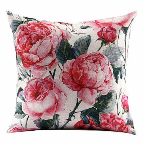 Flower Bird Pillow Cover Throw Pillow Case Sofa Cushion Cover Home Decor 18/'/'