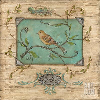 Bird Watcher I Art Poster Print by Kate McRostie, 12x12