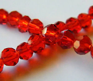 125pcs-4mm-Faceted-Round-Crystal-Beads-Bright-Red