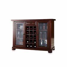 Sliding Top Bar Cabinet Home Kitchen Bottle Storage Liquor Holder Decor Display