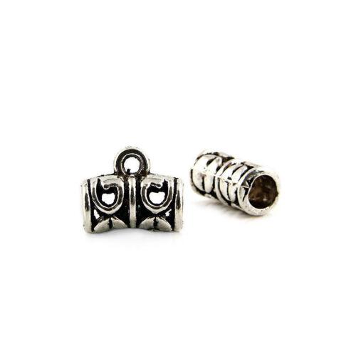 20X 50X Tibetan Silver Spacer Beads Charms Pendants Fit À faire soi-même Jewelry Making 11*6mm