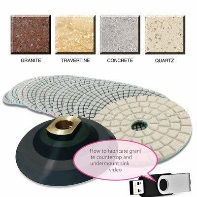 4 Granite Marble Polishing 45 3 Pad Countertop Sink Cut Stone