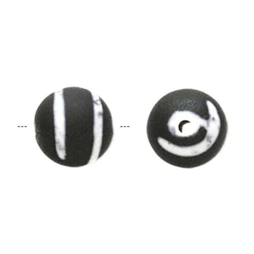 60 Matte Black /& Gray Rubberized Acrylic 14mm Round Beads *