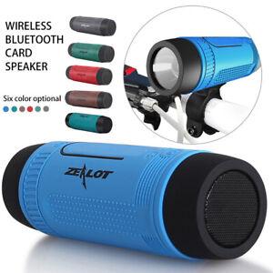 ZEALOT-OUTDOOR-CYCLING-BLUETOOTH-WIRELESS-SPEAKER-WATERPROOF-WITH-FLASHLIGHT-NEW