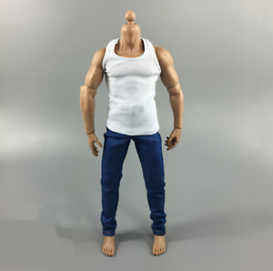 1//6 Scale Accessories White Vest Blue Jeans Male Clothing Sets F 12/'/' Body