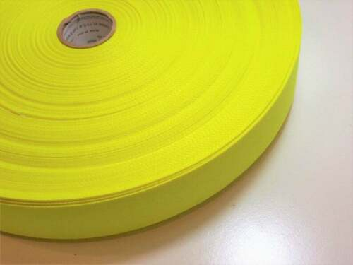 Neon Twill Tape Bright Yellow Twill Tape Ribbon 1 1//2 inches wide x 10 yards