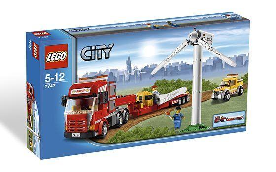LEGO ® City 7747 turbine eoliche-Transporter Nuovo OVP _ NEW MISB NRFB