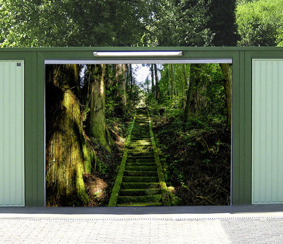 3D Foresta Scale 1 Garage Porta Stampe Parete Decorazione Murale AJ WALLPAPER IT