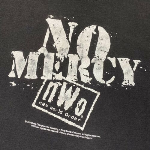 Vintage 90s 1998 NWO New World Order Tee No Mercy