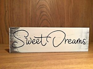 Details About Rustic Wood Sign Sweet Dreams Bedroom Home Decor Love Sign Farmhouse Style