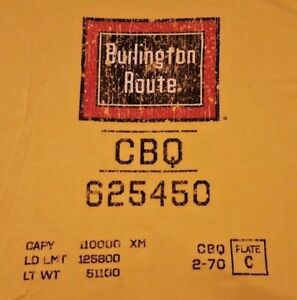 Ringaboy-Mens-T-Shirt-Burlington-Route-New-With-Tags-Size-L-Yellow