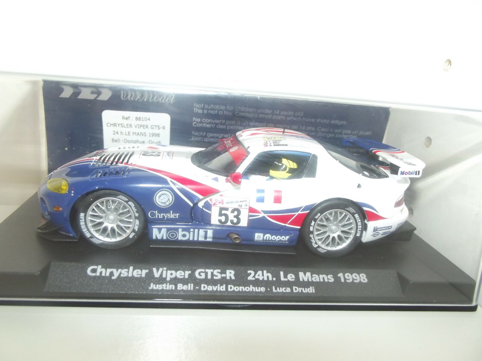 CHRYSLER VIPER GTS-24H LE MANS 1998 FLY CAR COLLECTION-SLOT-1 32--E23