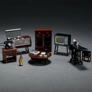 Miniature Dolls House Accessories  Vintage Furniture Cabinet Set  In 1:24 Scale