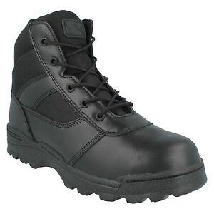 Dura-max Mens Mid Zipper Lace Up Leather Combat Steel Toe Safety Boots 4205ctz Entlastung Von Hitze Und Sonnenstich Herrenschuhe