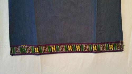 Men Women With African Traditional Dashiki Print Denim Top Shirt S M L XL P# 03