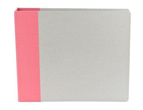 "American Crafts We R Memory Keepers Modern Scrapbook Album D-Ring 12/"" x 12/"" Cust"