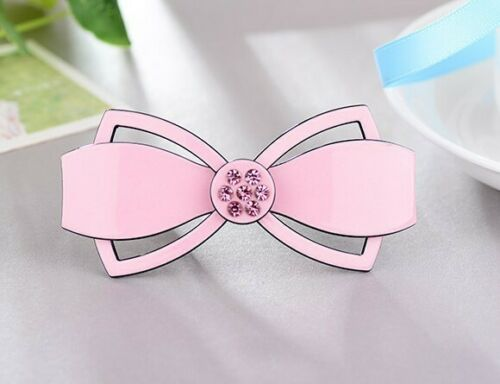 "50 BLESSING Good Girl 3.5/"" Acrylic Bowknot Hair Bow France Women New Style"