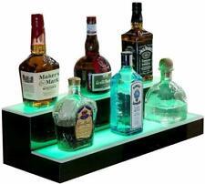 Led Lighted Back Bar Glowing Liquor Bottle Display Shelf 16 2 Step Tier