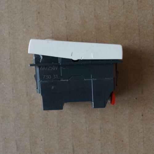 LEGRAND 73031 ancien MOSAIC Poussoir inverseur 6A Blanc bornes auto