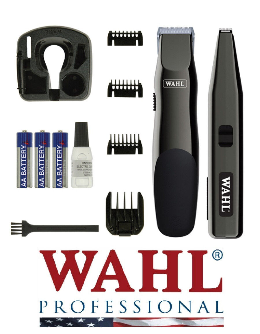 Wahl CORDLESS Touch Up & Stylique Trimmer Clipper&Guide Combs,Oil+ Combo KIT SET
