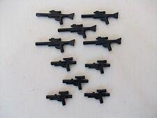 LEGO BLACK MINIFIG STAR WARS GUNS X 10 NEW