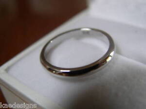 NEW-GENUINE-18ct-WHITE-GOLD-FULL-SOLID-2-6mm-WEDDING-BAND-RING-HALLMARKED-750
