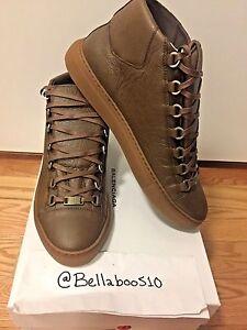 1ea8d4639 Image is loading Balenciaga-Arena-Sneaker-in-034-Marron-034-Khaki-
