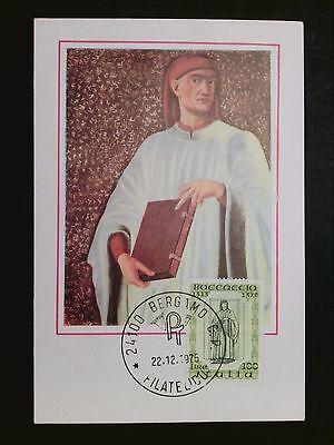 Aggressiv Italien Mk 1975 Boccaccio Dichter Poet Maximumkarte Maximum Card Mc Cm C8714