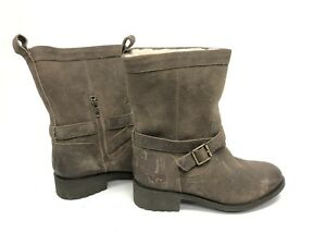 14d233d3767 Details about UGG Australia GLENDALE WOMEN'S SHORT BOOTS LEATHER Dove Grey  Gray 1095152 sz 8