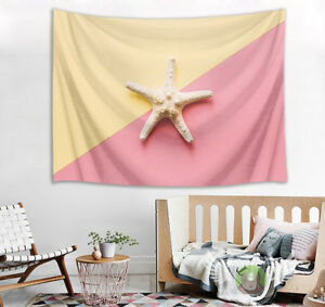 Wall Hanging Art Tapestry Starfish Yellow & Pink Home Decor ...