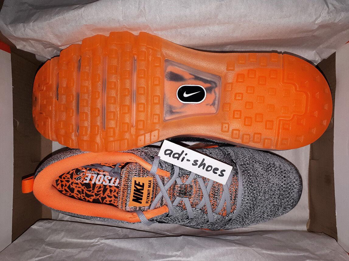 Nike Flyknit Max 2015 Premium Gris EE. Lobo/NARANJA EE. Gris UU. 6 7,5 8 Air 747361-008 LD-cero d369b3