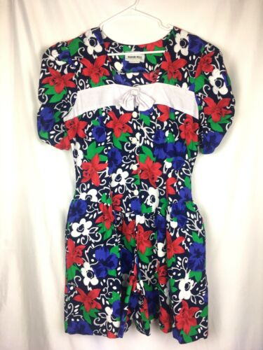 Madison Wells 1960s Culotte Dress Romper Drop Wais