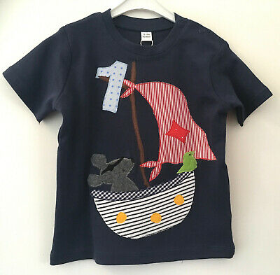 Geburtstagsshirt/namensshirt Mit Applikation *segelboot*, Unikat, Ab Gr.80 Neu Up-To-Date-Styling