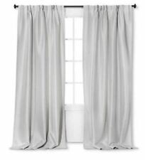 Simply Shabby Chic  2 Curtain Panels Gray Lined NWOP 54 x 84