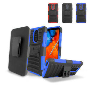 huge selection of 6e858 f5af5 Details about For T-Mobile Metro LG Stylo 4 Armor Stand Belt Holster Super  Combo Cover Case