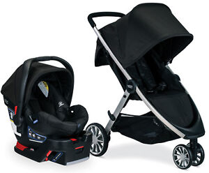 Britax B-Lively Stroller & B-Safe 35 Infant Car Seat Travel System Raven NEW