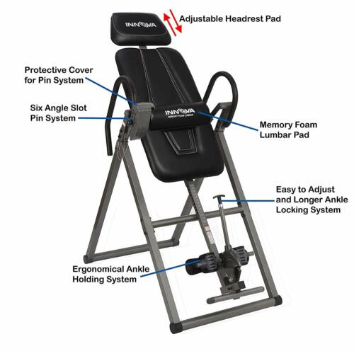 Heavy Duty Inversion Table with Memory Foam Lumbar Pad