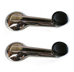 Pair of New Chrome Window Crank Handles Winder Handle Set for TR6 Spitfire GT6
