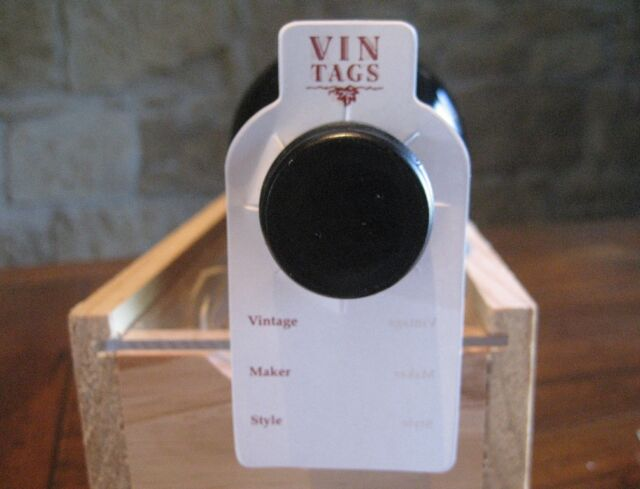 Wine Collection Storage Tags - Vin Tags, 10 packs of 50 bottle ID tags