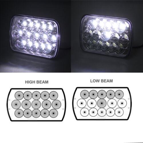 Waterproof 15LED Work Light Bulb HID High+Low Off Road Lamp Car Truck Headlight