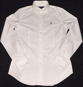 Ralph-Lauren-Custom-Fit-Oxford-Chemise-en-Blanc