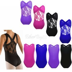Girls-Stretch-Gymnastics-Ballet-Costumes-Kids-Tank-Leotard-Ballet-Dance-Wear
