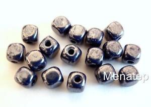 25 5 x 9 mm Czech Glass Crow Beads Teal Tortoise