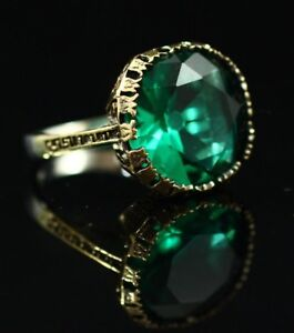 925-Sterling-Silver-Handmade-Authentic-Turkish-Emerald-Ladies-Ring-7-9