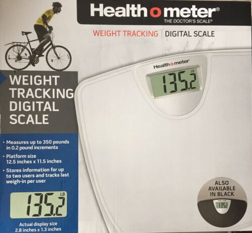 Health o Meter Weight Tracking Digital Scale White