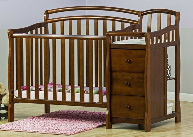 Baby Cribs With Changing Table Furniture Nursery 4 In 1 Convertible