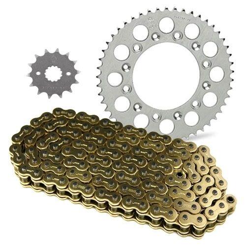 JT Sprockets and Gold Chain Kit LTZ400 03-08 KFX400 03-06 14//40 Black