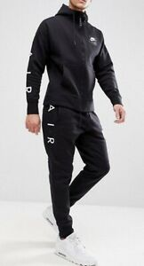 Fleece JackeHose Vlies Herren Schwarz Nike Details Air Trainingsanzug Zu zVpSUM